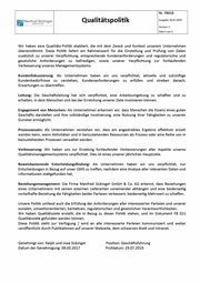 Unsere Qualitätspolitik als PDF